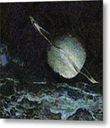 Saturn-y Metal Print by Ayse Deniz