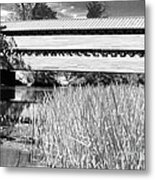 Saucks Bridge And Reeds Metal Print