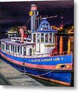 Savannah Belle Dot Ferry Metal Print