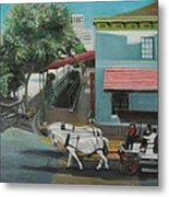 Savannah City Market Metal Print