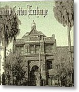 Old Savannah Cotton Exchange Metal Print