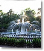 Savannah Georgia Forsyth Park Fountain Metal Print