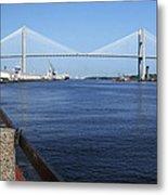 Savannah River Bridge Ga Metal Print