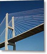 Savannah River Bridge Georgia Usa Metal Print