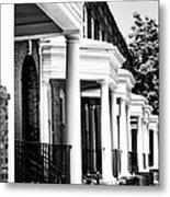 Savannah Rowhouses Savannah Ga Metal Print