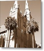Savannah Sepia - Methodist Church Metal Print