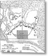 Savannah Siege Map, 1779 Metal Print