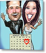 Save The Date Metal Print