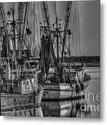 Save The Lowcountry Shrimping  Metal Print
