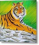 Save Tiger Metal Print by Tanmay Singh