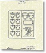 Savings Book 1926 Patent Art Metal Print