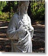 Savior Statue Metal Print by Al Powell Photography USA