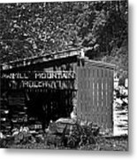 Sawmill In Black And  White Metal Print by John Holloway