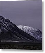 Sawtooth Mountain At Night Metal Print