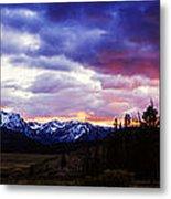 Sawtooth Sunset Panorama Metal Print