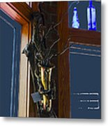 Sax At The Full Moon Cafe Metal Print