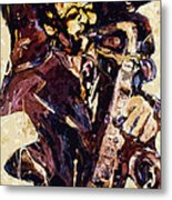 Sax Man One Metal Print