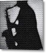 Sax On The Bricks Metal Print