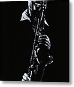 Sax Player Metal Print
