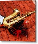 Saxophone Before The Parade Metal Print