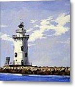 Saybrook Breakwater Lighthouse Old Saybrook Connecticut Metal Print