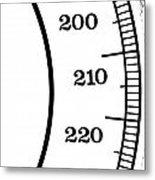 Scale Numbers Metal Print