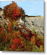 Scarborough Bluffs In Colour Metal Print