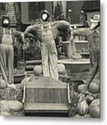 Scarecrows In Autumn Gatlinburg Tennessee Metal Print