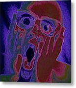 Scared Silly Metal Print