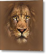 Scarface Lion Metal Print