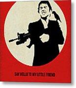 Scarface Poster Metal Print by Naxart Studio