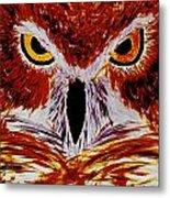 Scarlet Owl Metal Print