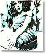 Scarlett Blues Metal Print