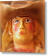 Scary Cowgirl Metal Print