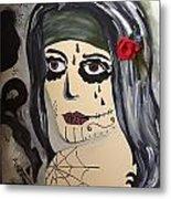 Scary Girl Metal Print by Karen Carnow