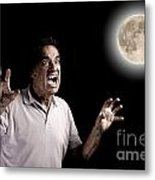 Scary Man Werewolf Metal Print