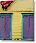 Colorful Doors In Antigua Metal Print