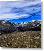 Scene From The Rocky Mountains National Park  Metal Print
