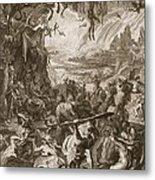 Scene Of Hell, 1731 Metal Print