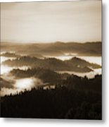 Scenery With Silhouettes Metal Print