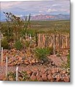 Scenic Boothill Cemetery In Tombstone Arizona Metal Print