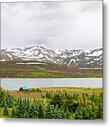 Scenic Landscape In Northern Iceland. Metal Print