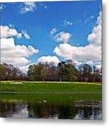 Scenic Park Lake In Spring Time Metal Print