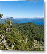 Scenic Urewera Np With Lake Waikaremoana In Nz Metal Print