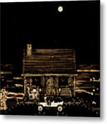 Scenic View At Night Metal Print