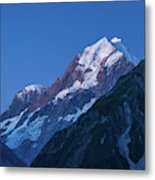 Scenic View Of Mountain At Dusk Metal Print