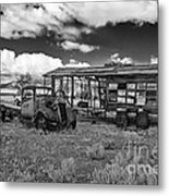 Schellbourne Station And Old Truck Metal Print by Robert Bales