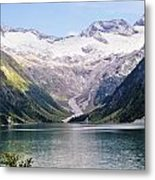 Schlegeis Dam And Reservoir  Metal Print