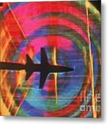 Schlieren Image Of Aircraft Metal Print by Garry Settles