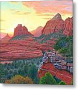 Schnebly Hill Sunset Metal Print